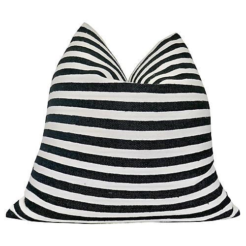 Berber Striped Cotton & Linen Pillow