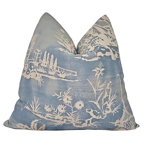 Scalamandré Chinoiserie Sky Pillow