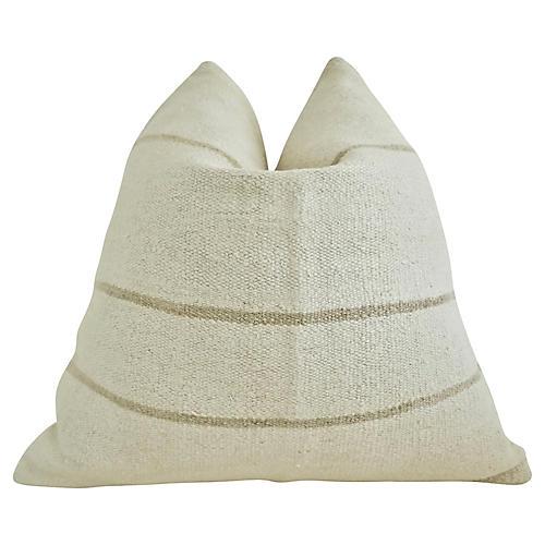 Vintage Berber Wool Kilim Pillow