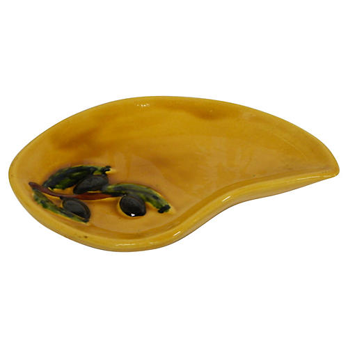French Vallauris Olive Tray