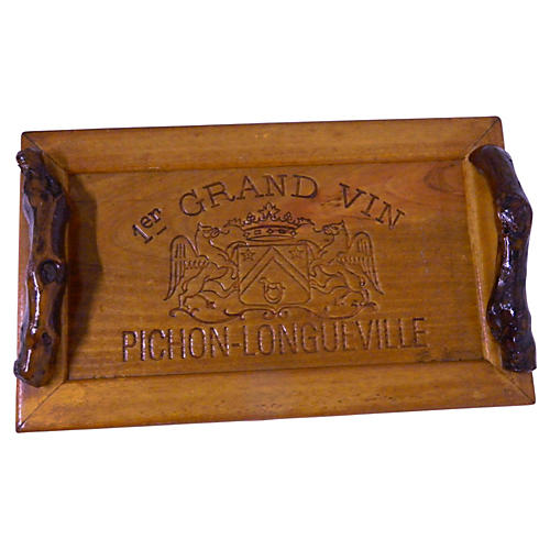 French Pauillac Wine Panel Tray