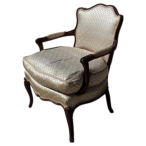 French Satin Ladies Provincial Bergere