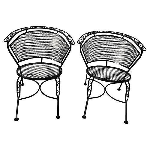 Salterini Garden Chairs, Pair