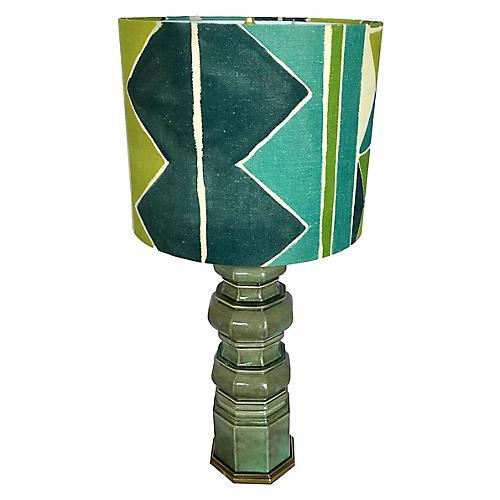 Ceramic Lamp w/ Custom Larsen Shade