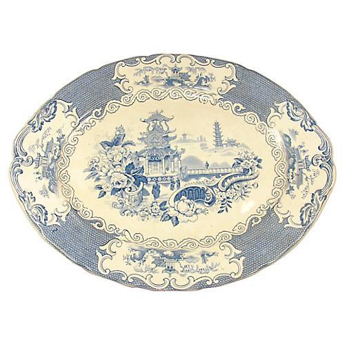 Staffordshire Chinoiserie Platter