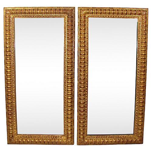 Italian Giltwood Mirrors, Pair