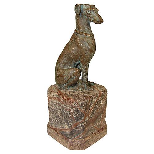 Bronze Dog Paperweight