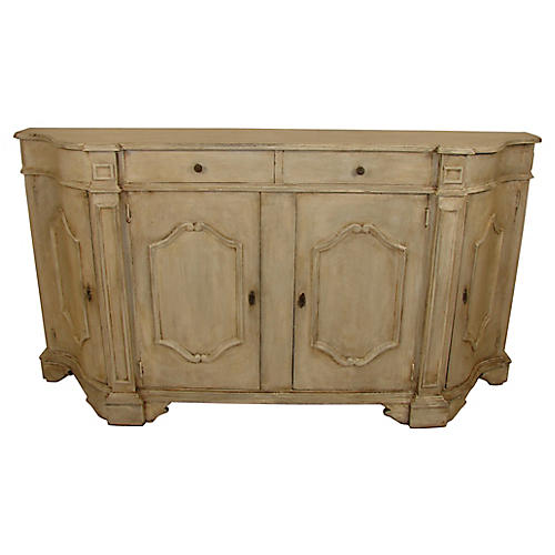 Antique Painted Italian Credenza