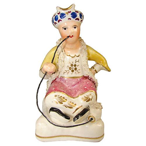 Antique Staffordshire Turk Figurine