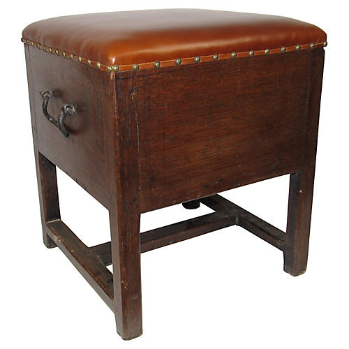 19th-C. Oak Stool