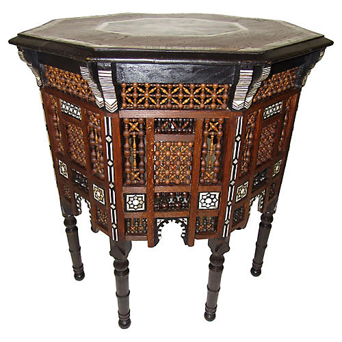 19th-C. Egyptian Table