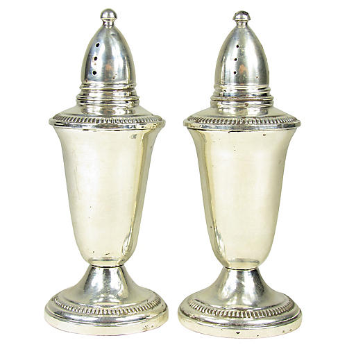 Sterling Salt Shakers, Pair