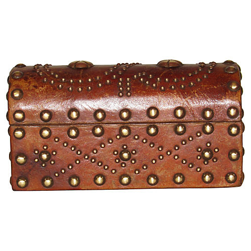 Spanish Leather Studded Box