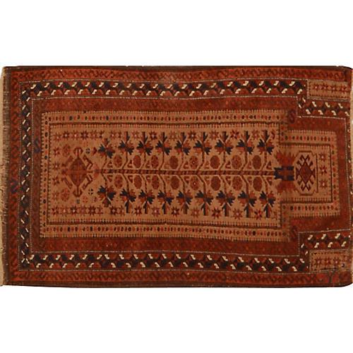 "Afghan Baluch Rug, 2'8""x 4'5"""