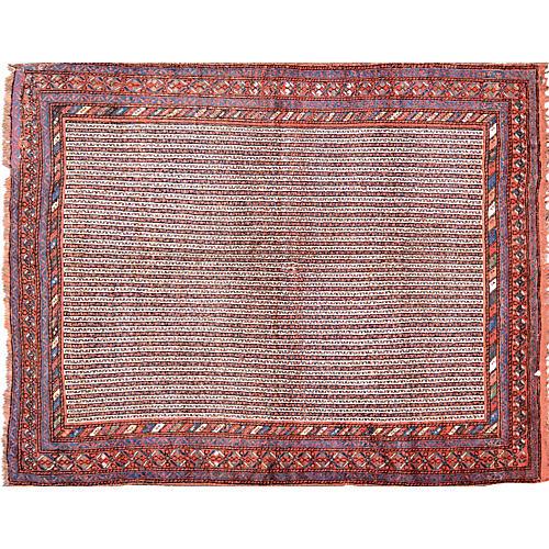 """Antique Persian Rug, 5'1"""" x 6'7"""""""
