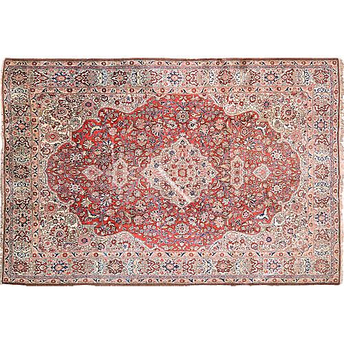 """Persian Tabriz Rug, 7'6"""" x 11'11"""""""