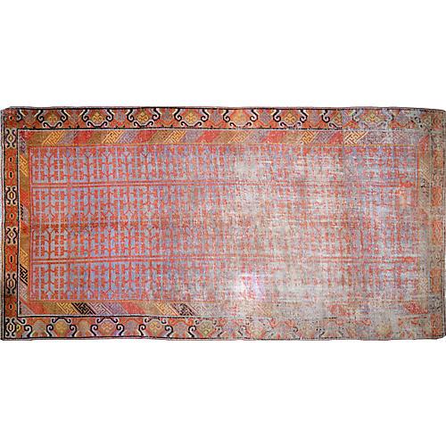 "Antique Khotan Rug, 6' x 11'4"""