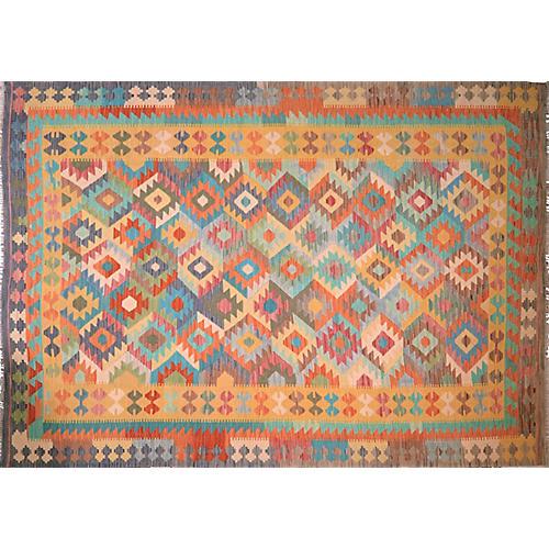Afghan Maimana Kilim,6'9''x9'6''