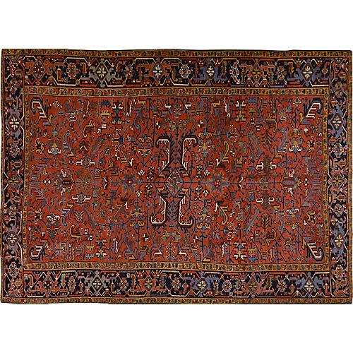 Antique Persian Heriz Rug,7'5x10'5