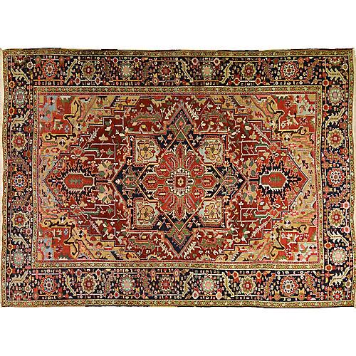 Antique Persian Heriz Rug,8'5x11'4