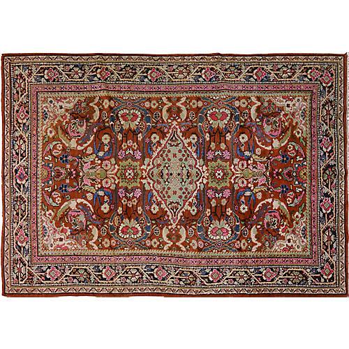 """Antique Persian Mahal Rug, 7'1"""" x 10'5"""""""
