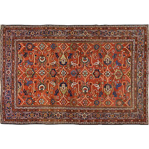 """Antique Persian Mahal Rug, 7' x 10'4"""""""