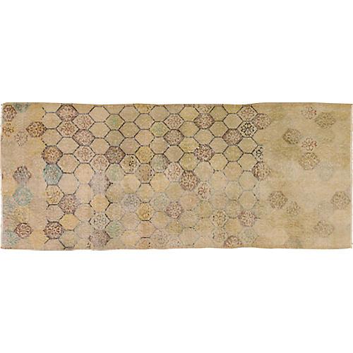"""Turkish Art Deco Rug, 2'10"""" x 6'10"""""""