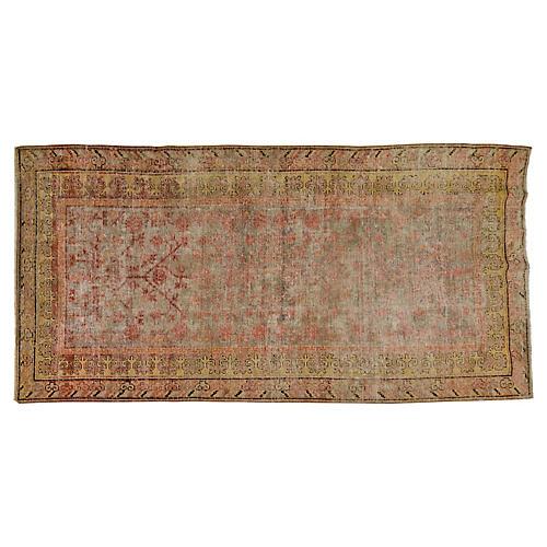 "Antique Khotan Rug, 4'10"" x 9'9"""