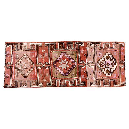 """Vintage Kurdish Rug,4'1""""x10'2"""""""