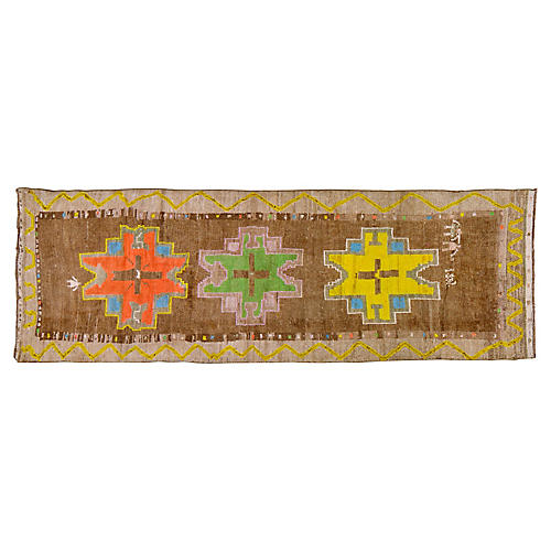 "Kurdish Tribal Rug, 3'8"" x 10'5"""
