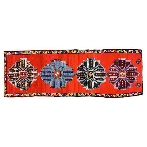 "Kurdish Tribal Rug, 3' x 8'5"""