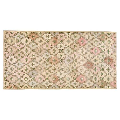"""Turkish Art Deco Rug, 4'4"""" x 8'5"""""""