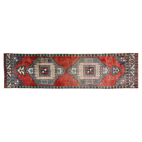 Vintage Turkish Rug - 3'1''x12'