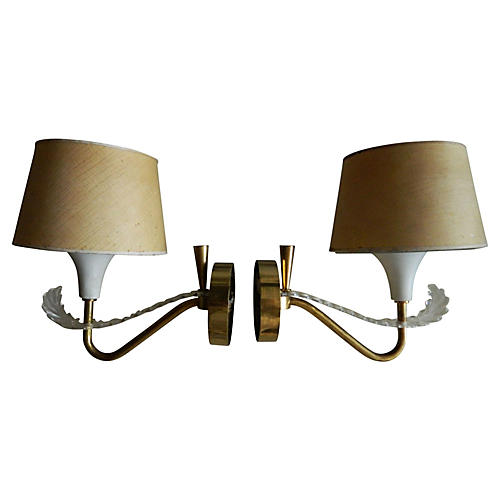 1950s French Sconces,Pair