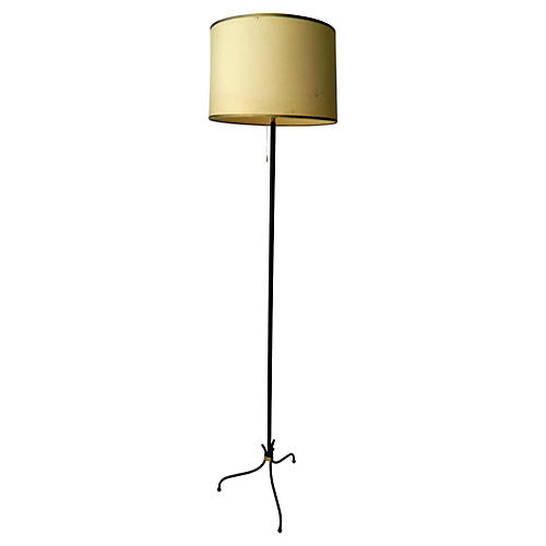 Jacques Adnet-Style French Floor Lamp