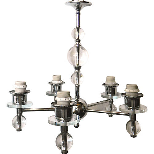 Jacques Adnet-Style Chandelier