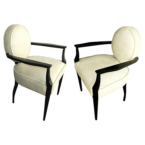 French Bridge Armchairs by Dominique, Pr