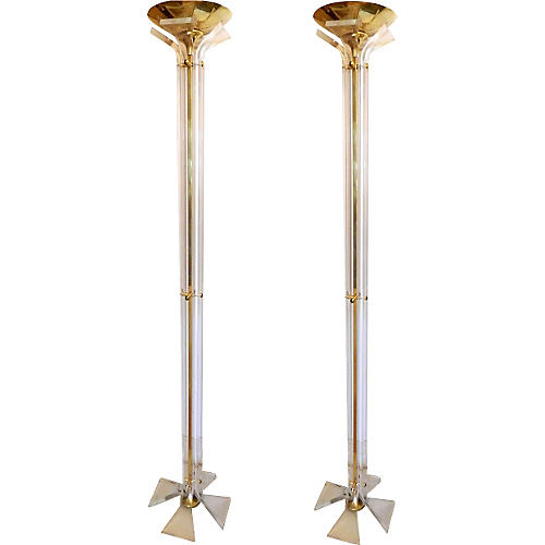 1970s Italian Floor Lamps, Pair