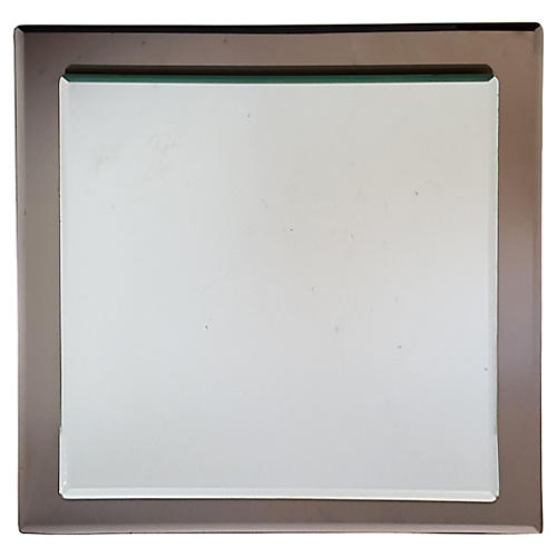 1970s Veca Square Mirror