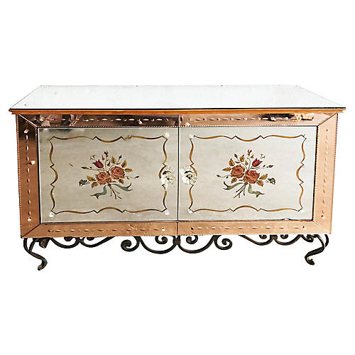 French Mirrored Sideboard, C. 1940
