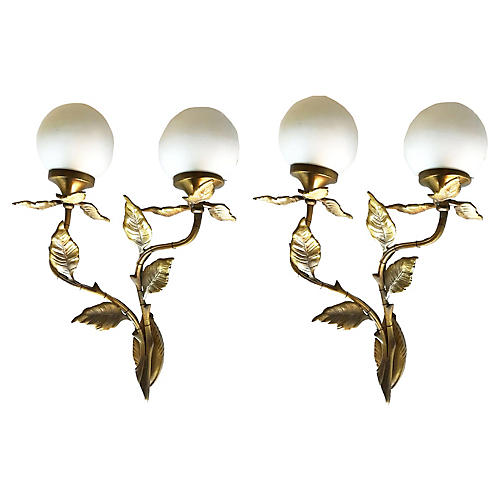 C.1950 French Sconces, Pair