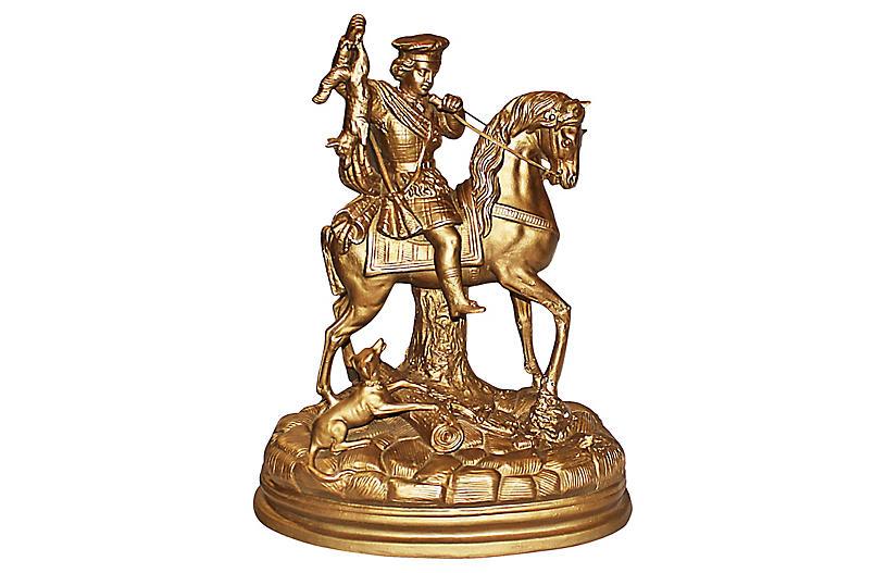 Gilded Terracotta Figurine