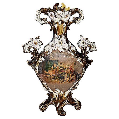 Majolica Rococo Vase