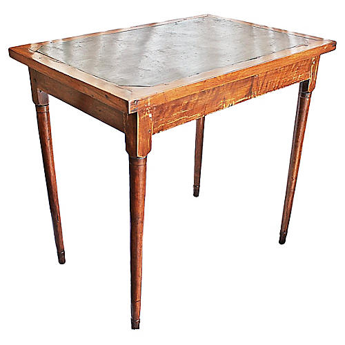 Antique Slate-Top Dining Table