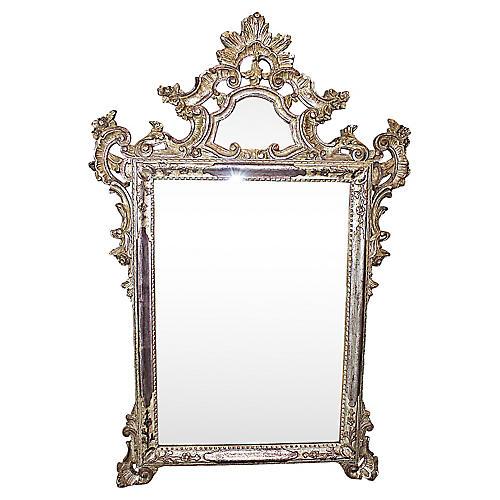 Silvered Italian Mirror