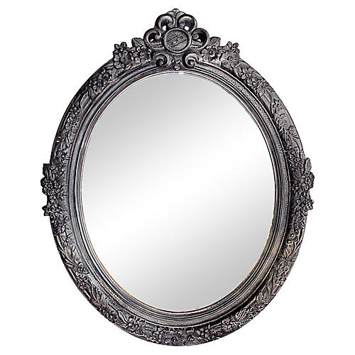 Oval Resin Crackled Mirror