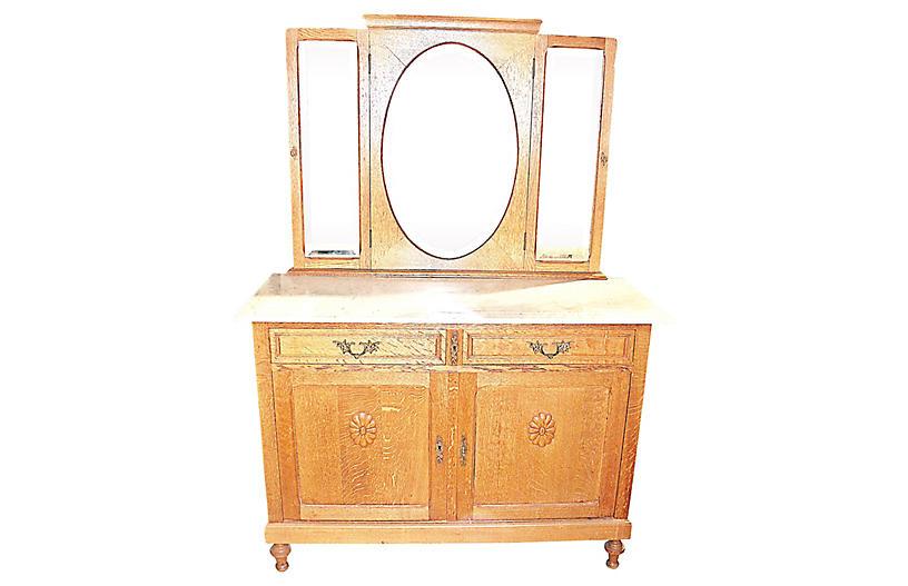 Belgian Oak Drisink Dresser