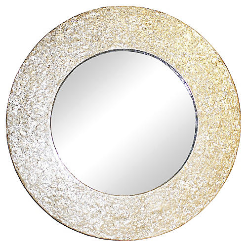 Round Mother-of-Pearl Mirror