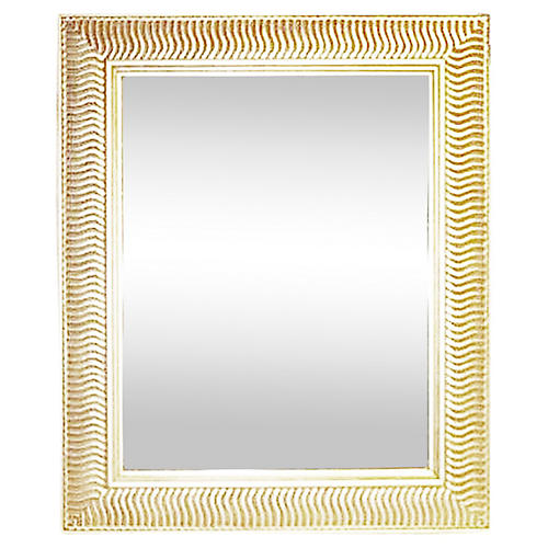 Warm-Silver Wall Mirror, Indoor/Outdoor