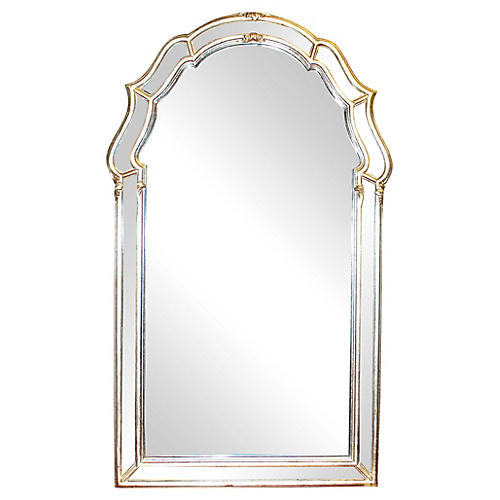 LaBarge Keyhole-Style Silvered Mirror